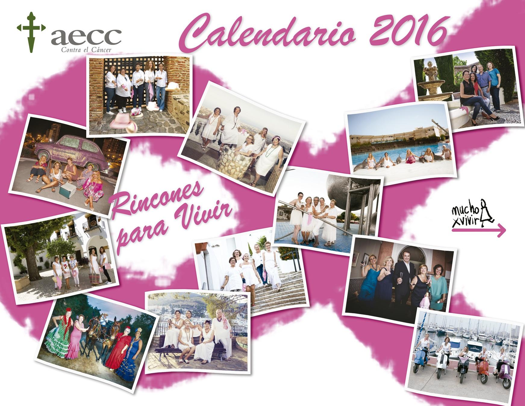 aecc, rincones para vivir, calendario 2016 aecc
