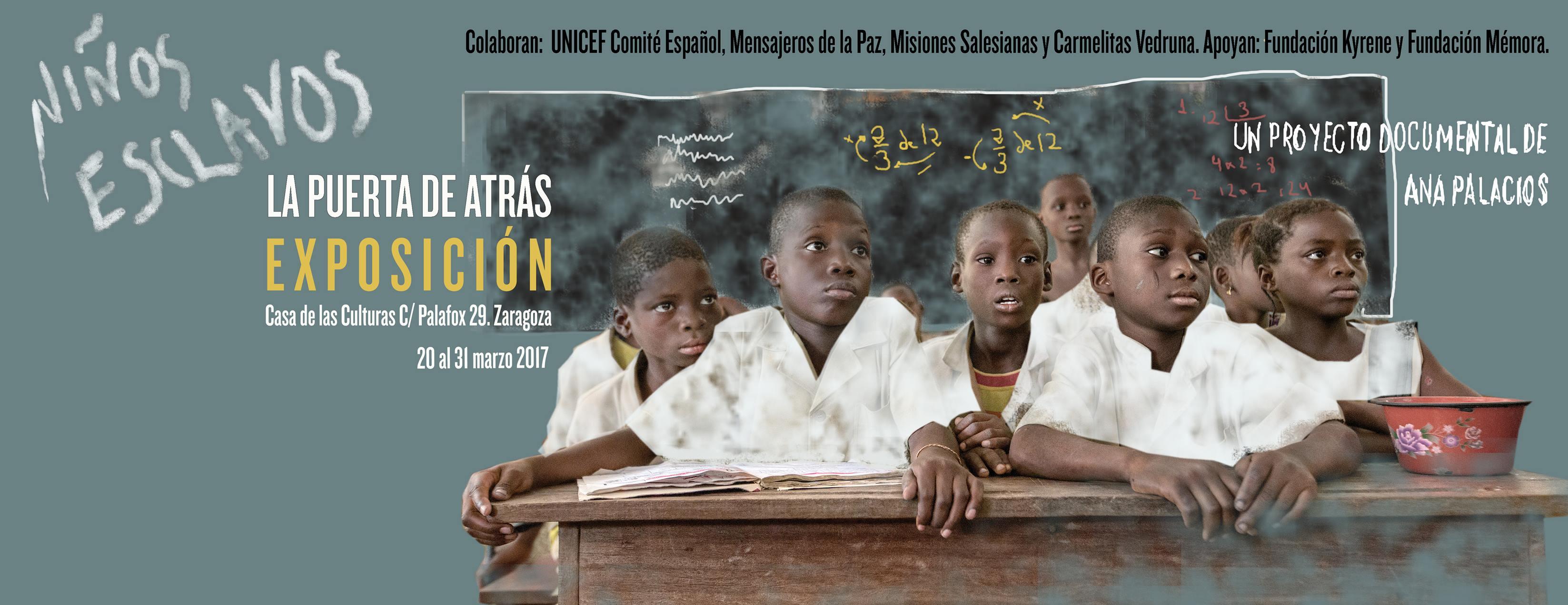 Niños esclavos. La puerta de atrás de Ana Palacios en Zaragoza
